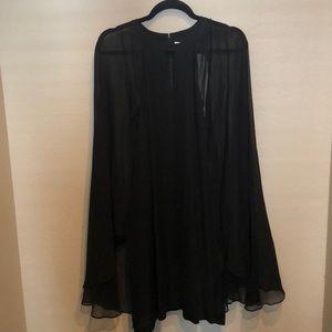 Parker - Black Cape Dress - Medium